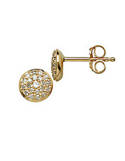 14 Kt Yellow Gold and 0.17 ct t w Diamond Earrings
