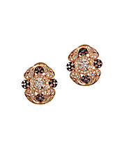 Diamond And 14K Yellow Gold Earrings, 1.13 TCW
