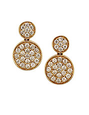 Trio 14Kt Yellow Gold and Diamond Drop Earrings