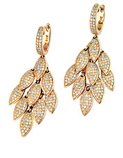Diamond and 14K Rose Gold Drop Earrings, 1.82 TCW