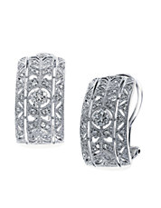 Classica 14K White Gold Diamond Earrings