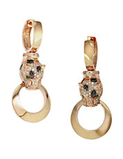 Diamond Emerald And 14K Rose Gold Drop Earrings 0.74 TCW
