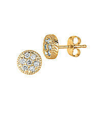 Diamond Stud Earrings in 14 Kt. Yellow Gold