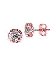 Diamond Stud Earrings in 14 Kt. Rose Gold
