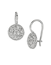 0.65 ct t w Diamond Drop Earrings in 14 Kt White Gold