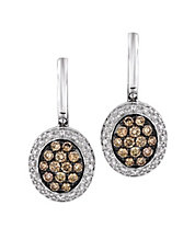 Diamond Drop Earrings in 14K Vanilla Gold .61ct. t.w.