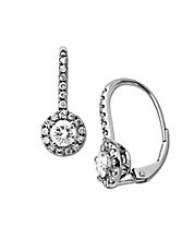 Diamond Earrings in 14 Kt. White Gold 1.0 ct. t.w.