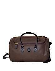 Leather Rolling Carry-On Duffle