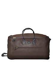 Large Leather Rolling Duffle