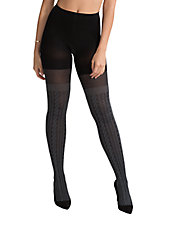 Cable Knit Over-the-Knee Semi-Sheer Tights