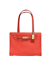 Swagger Small Tote In Polished Pebble Leather