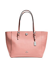 Turnlock Leather Tote