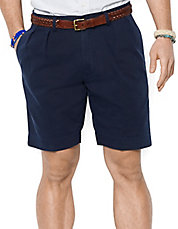 Classic-Fit Pleated 9 inch Chino Shorts