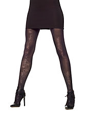 Paisley Luster Control Top Tights