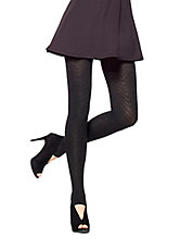 Chevron Knit Stirrup Tights
