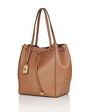 Oxford Leather Bucket Tote