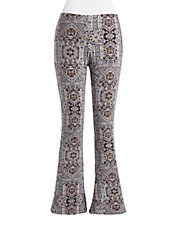Floral Paisley Flared Pants