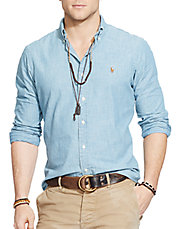 Classic-Fit Chambray Shirt