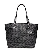 Jet Set Faux Leather Signature Tote Bag