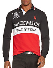 Black Watch Custom-Fit Color-Blocked Polo Shirt