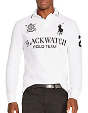 Black Watch Custom-Fit Long-Sleeved Polo Shirt