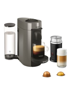 Vertuo Plus Coffee, Espresso Single Serve Machine And Aeroccino Milk Frother Set by Nespresso By Delonghi