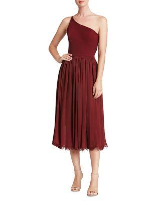eliza-one-shoulder-midi-dress by dress-the-population