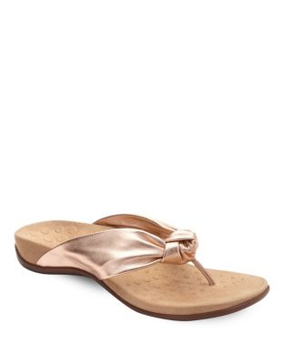 Pippa Leather Flip Flops by Vionic