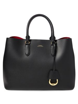 Marcy Leather Satchel by Lauren Ralph Lauren