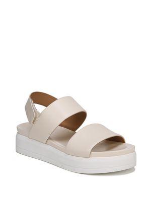 Kenan Leather Platform Sandals by Franco Sarto