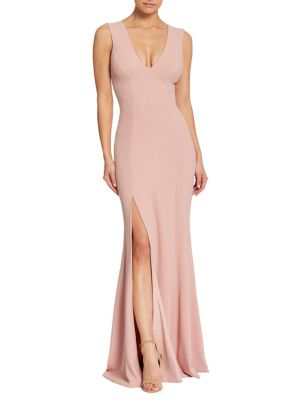 Sandra Slit Evening Gown by Dress The Population