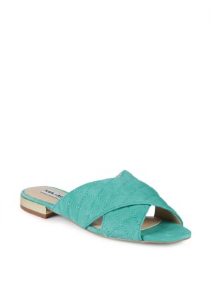 Rae Diamond Quilt Suede Sandals by Karl Lagerfeld Paris