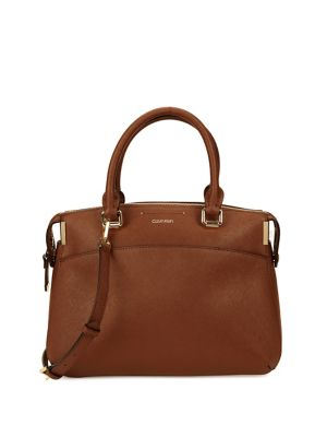 Raelyn Leather Satchel by Calvin Klein