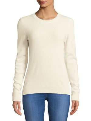 Petite Essential Cashmere Crewneck Sweater by Lord & Taylor