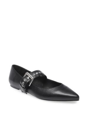 Peggy Buckle Flats by Design Lab