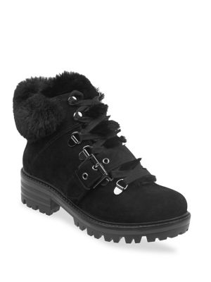 Kkedison Faux Fur Lined Suede Ankle Boots by Kendall + Kylie