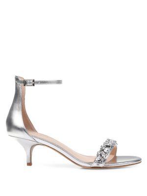 Dash Ankle Strap Kitten Heel by Jewel Badgley Mischka
