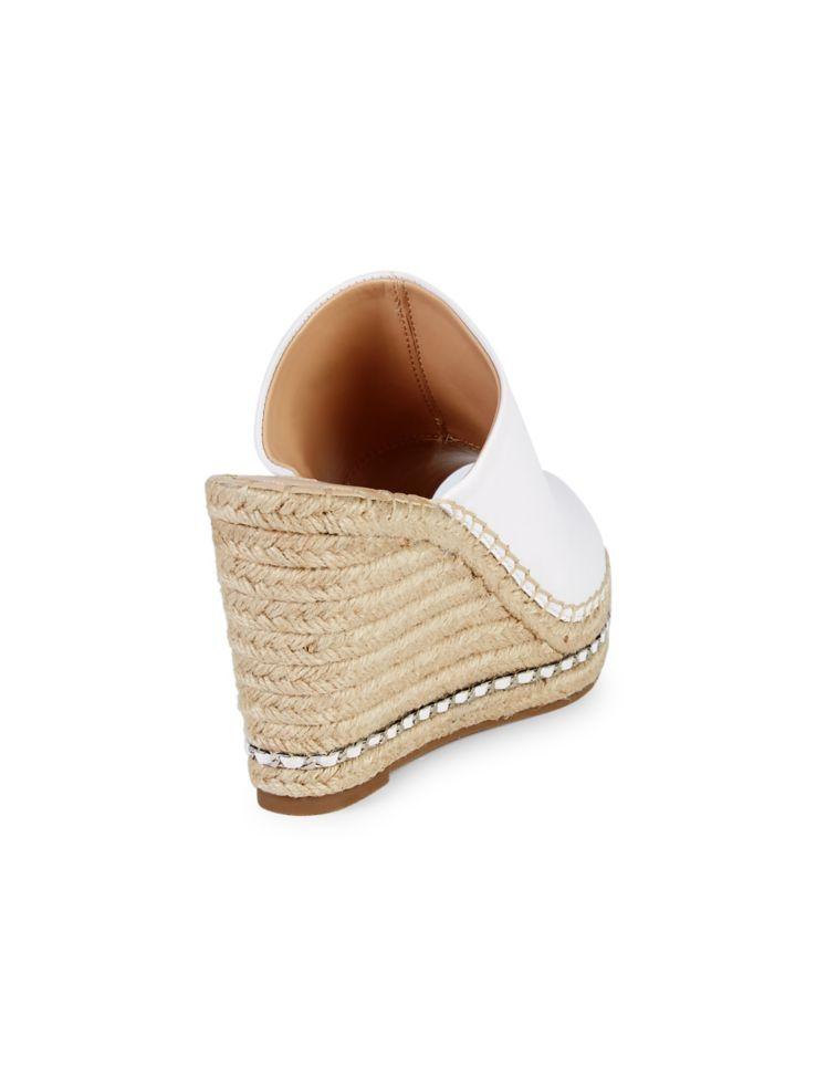 0ae191f544 Karl Lagerfeld Paris - Carina Leather Espadrille Wedge Mules ...