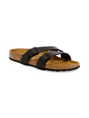 Yao Crossover Double Strap Slide Sandals by Birkenstock