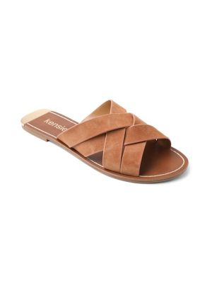Kattie Woven Suede Sandals by Kensie