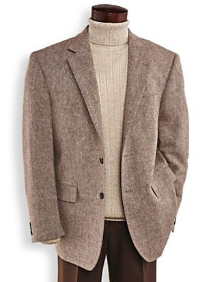 1940s Men's Fashion Clothing Styles John Blair® Donegal Tweed Sportcoat $45.49 AT vintagedancer.com