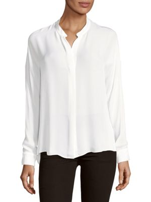 Long Sleeve Silk Blouse by Vince