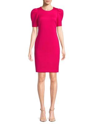 Short Sleeve Sheath Dress by Calvin Klein