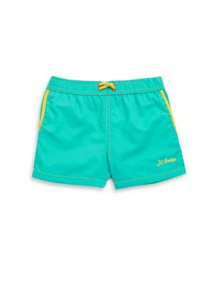 Little Boy's & Boy's Solid Nylon Shorts by Jr. Swim