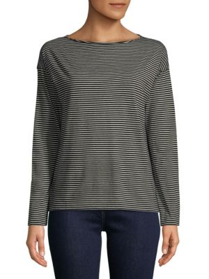 Pencil Stripe Long Sleeve Shirt by Vince