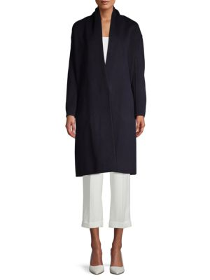 Classic V Neck Coat by Vince