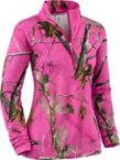 Ladies Performance Realtree Camo ¼ Zip Mock at Legendary Whitetails