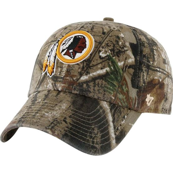 Washington Redskins Realtree Camo Clean Up Cap at Legendary Whitetails