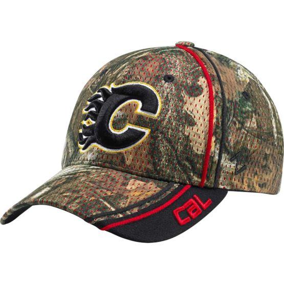 Calgary Flames Mossy Oak Camo NHL Slash Cap at Legendary Whitetails