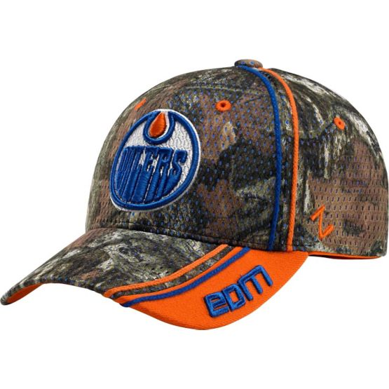 Edmonton Oilers Mossy Oak Camo NHL Slash Cap at Legendary Whitetails